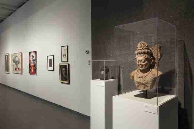 """Installation view of the exhibition """"Vanitas: contemporary reflections on love and death from the collection of Stéphane Janssen"""" currently at the Phoenix Museum of Art."""