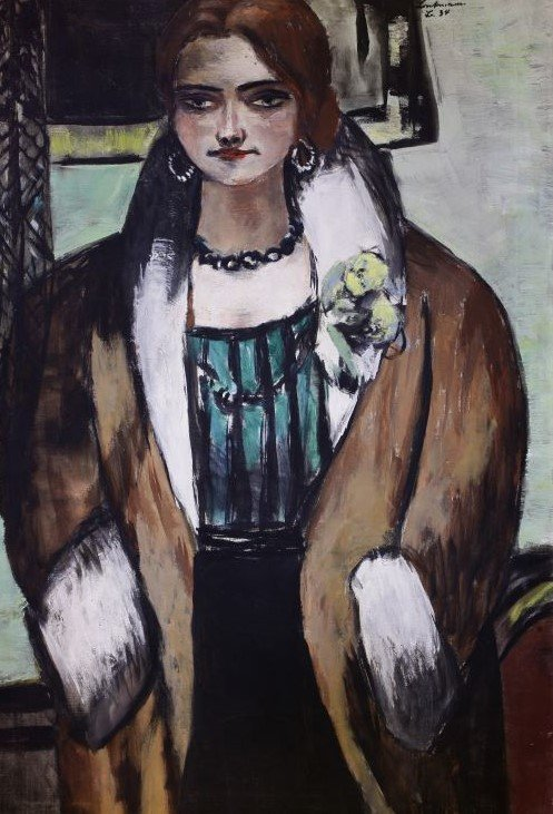 Max Beckmann, Portrait of Naila, 1934, oil on canvas. Galerie Henze & Knetter.
