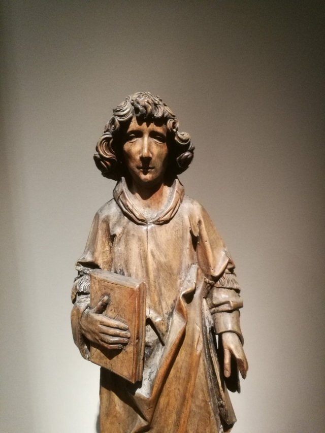 Workshop of Tilman Riemenschneider, Standing Deacon, c. 1505-1515, wood. Sam Fogg.