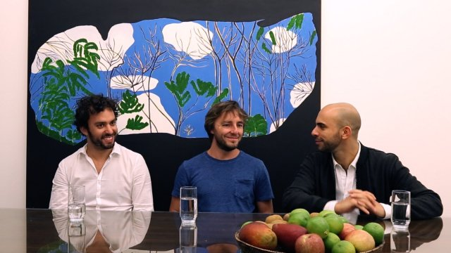 From left to right, Pedro Mendes, Matthew Wood and Felipe Dmab. Courtesy of Mendes Wood DM