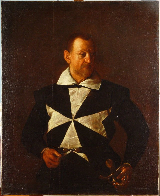 Fig. 1, Caravaggio, Portrait of a Maltese Knight, 1608. Oil on canvas, 118,5 x 95 cm.