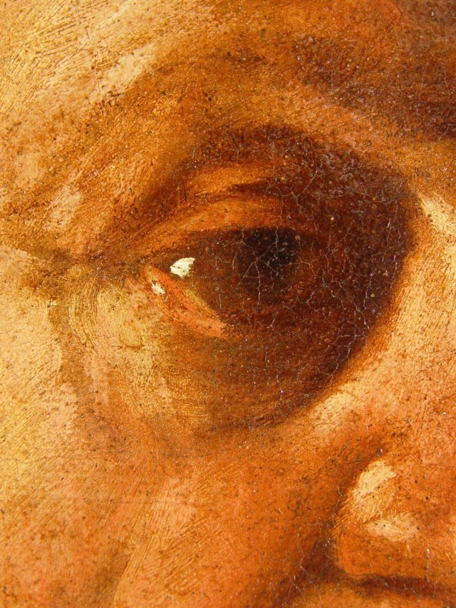 Fig. 4, Caravaggio, Portrait of a Maltese Knight, detail.