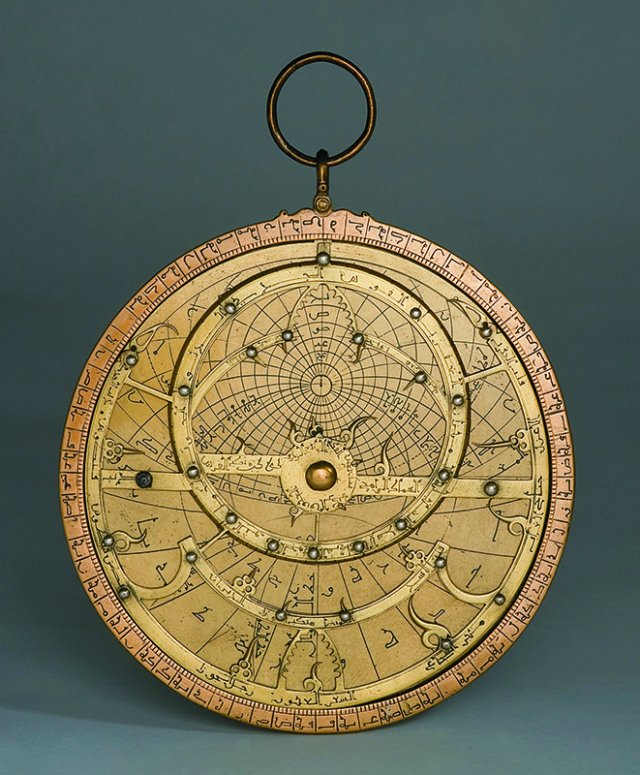 Arab workshop, Astrolabe, XIII cent., brass, copper, silver, Florence, Museo Galileo.