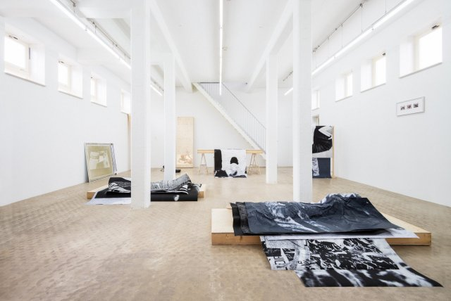 Gallery Wilfried Lentz Rotterdam, interior view with an exhibition of Aimée Zito Lema.