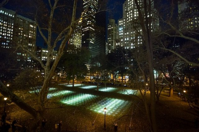 "Installation view of ""Whitehot"" at Madison Square Park, New York.  Courtesy of Moorehart Photography."