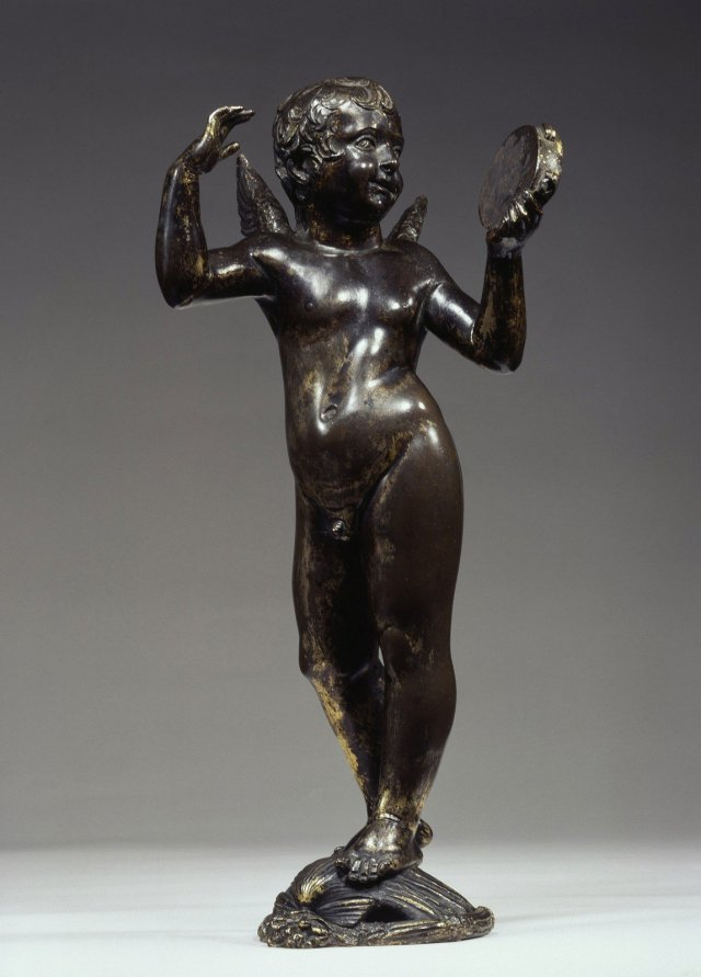 Putto with tambourine, Donatello, Tuscany (Italy) 1428-29, Bronze, traces of gilding, Staatliche Museen of Berlin, Sculpture Collection and Museum of Byzantine Art © SMB, Sculpture Collection and Museum of Byzantine Art, Jörg P. Anders.