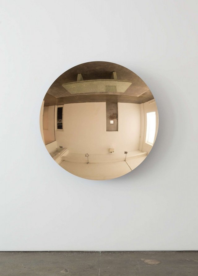 Anish Kapoor, Mirror Glow Bronze (Cobalt Blue), 2015, Bronze and lacquer. At Gladstone Gallery.