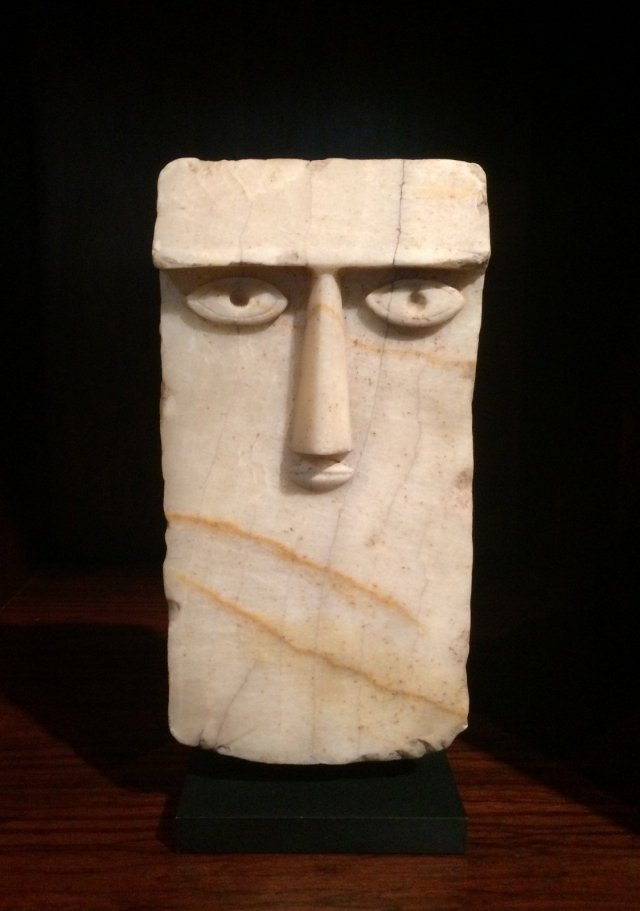 Eye Steel, South Arabia, 3rd century BC – 1st century A.D., Alabaster. At Axel Vervoordt.