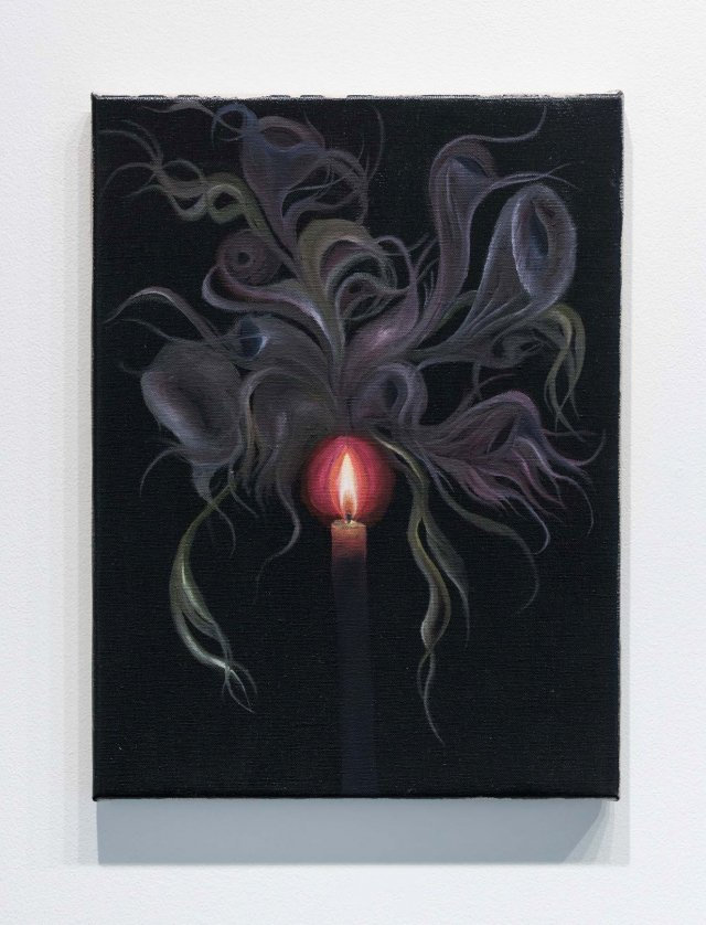 Srijon Chowdhury, Candle, 2018; oil on linen, 16x12 inches. Courtesy of the artist.