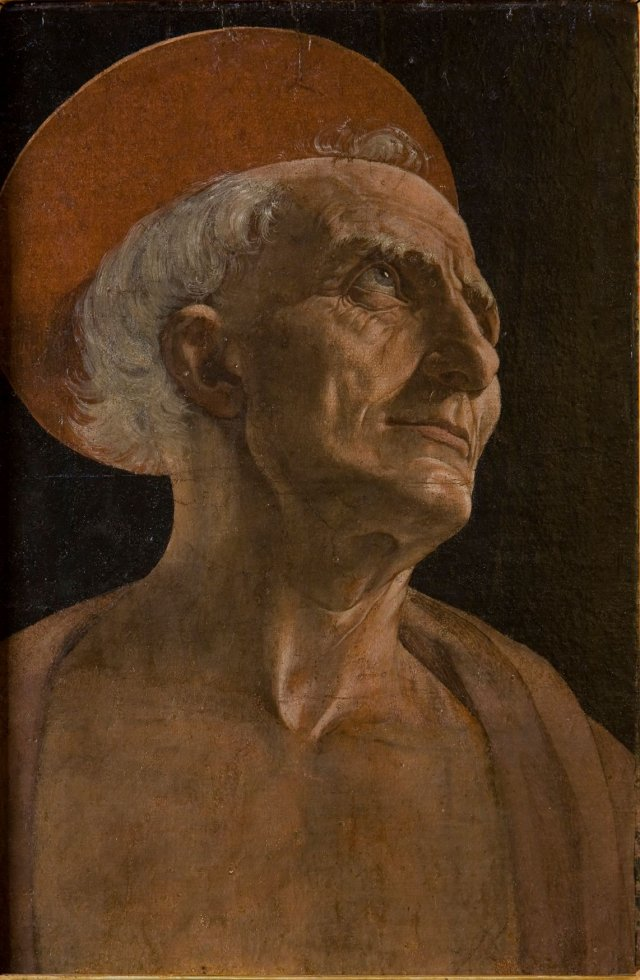 Andrea del Verrocchio, Saint Jeromec. 1465–70, tempera on paper applied to panel, 40 x 26 cm. Florence, Galleria degli Uffizi.