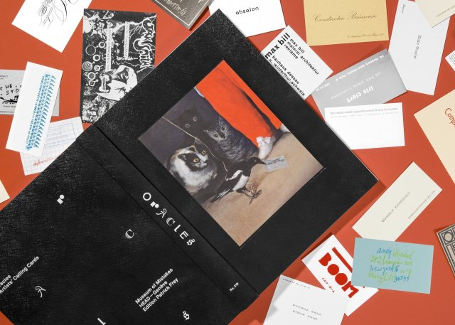 Oracles – Artists' Calling Cards by Pierre Leguillon and Barbara Fédier, 2017. Edition Patrick Frey