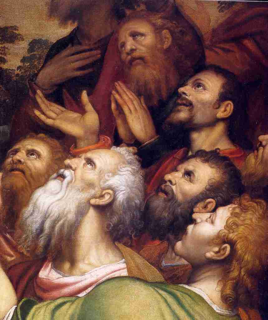"Simone Peterzano, ""Ascension of Jesus"" (detail)"