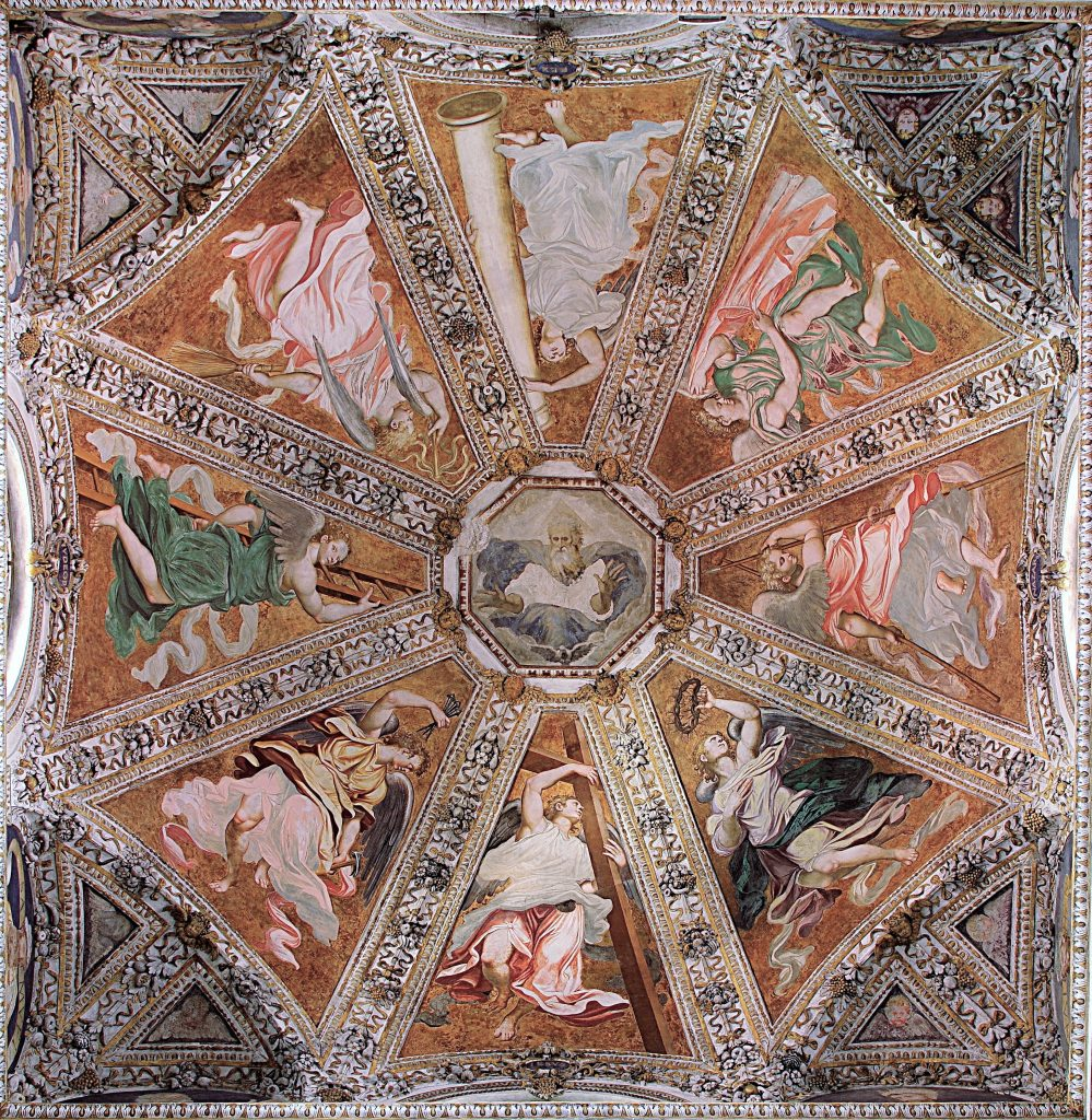 Simone Peterzano, frescoes in the dome, Milan, Certosa di Garegnano