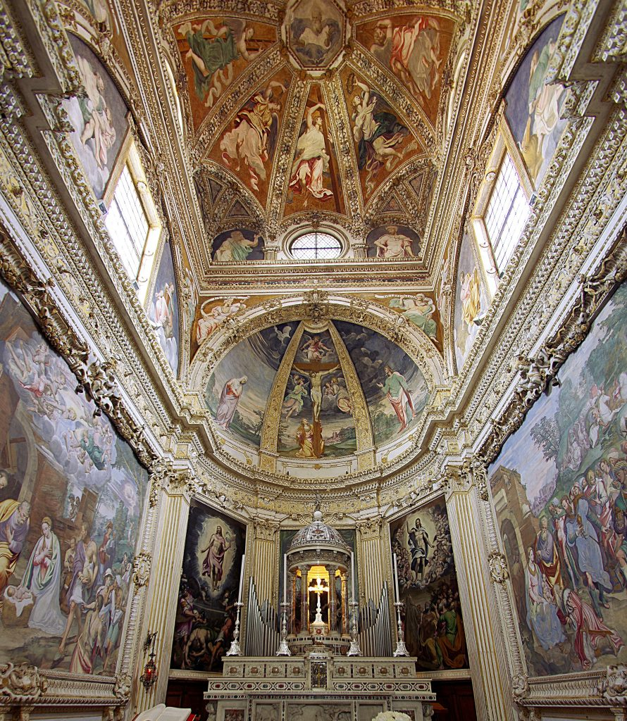 Simone Peterzano, general view of the decoration, presbytery