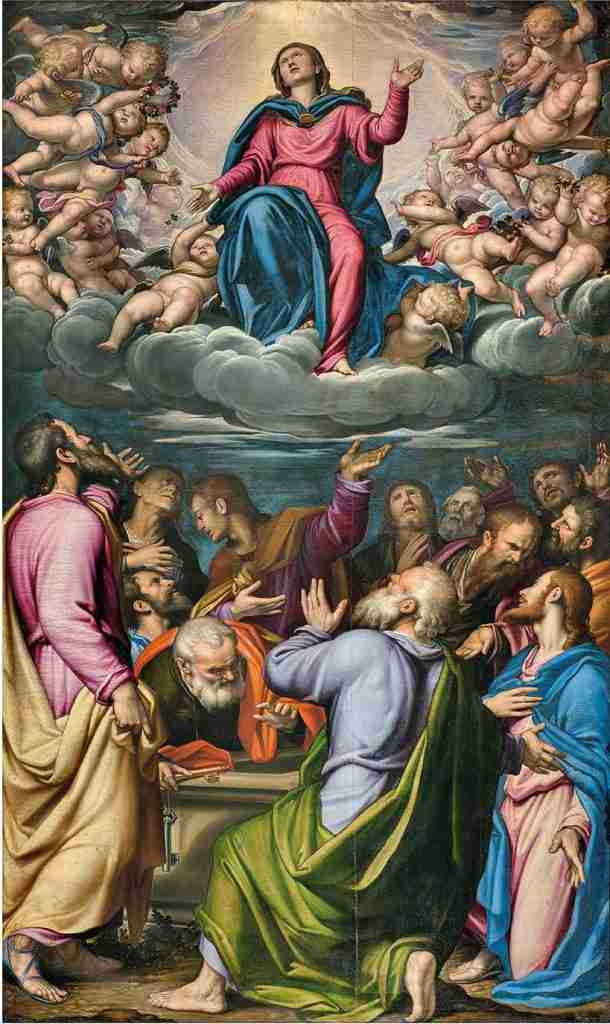 "Simone Peterzano, ""Assumption of the Virgin"""