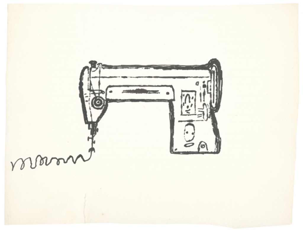 a sewing machine that slightly resembles a gun