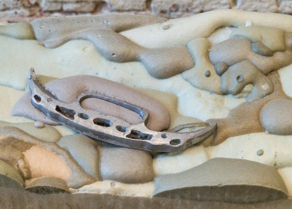 Marina Pinsky, Not Yet Titled (Foam Blocks 1-10), 2017 (detail). Strata of the Slow, Buried Trench, Vleeshal Markt, Middelburg. Photo: Marina Pinsky