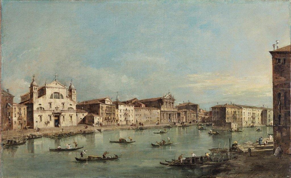 Francesco Guardi, The Grand Canal with Santa Lucia and Santa Maria di Nazareth, approx 1780. Courtesy Thyssen-Bornemisza Museum.
