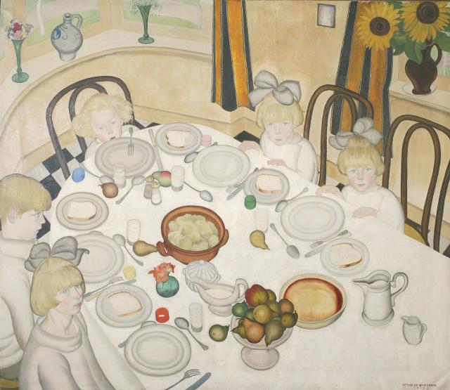 Gustave Van de Woestyne, The Children's Table, 1919. Courtesy of Museum Van Buuren, Brussels.