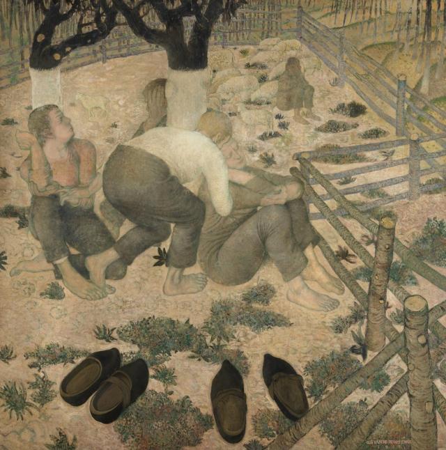 Gustave Van De Woestyne, The Sleepers, 1918. Photo: Hugo Maertens, Collection KMSKA - Flemish Community (CC0)