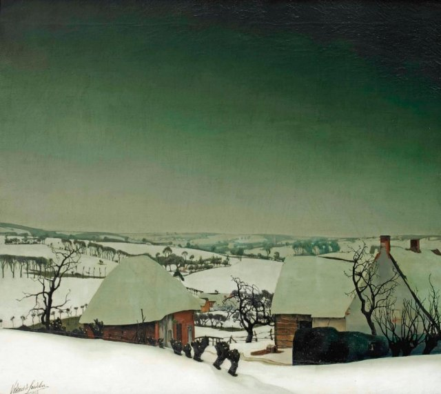 Valerius De Saedeleer, A Winter Landscape, 1915.