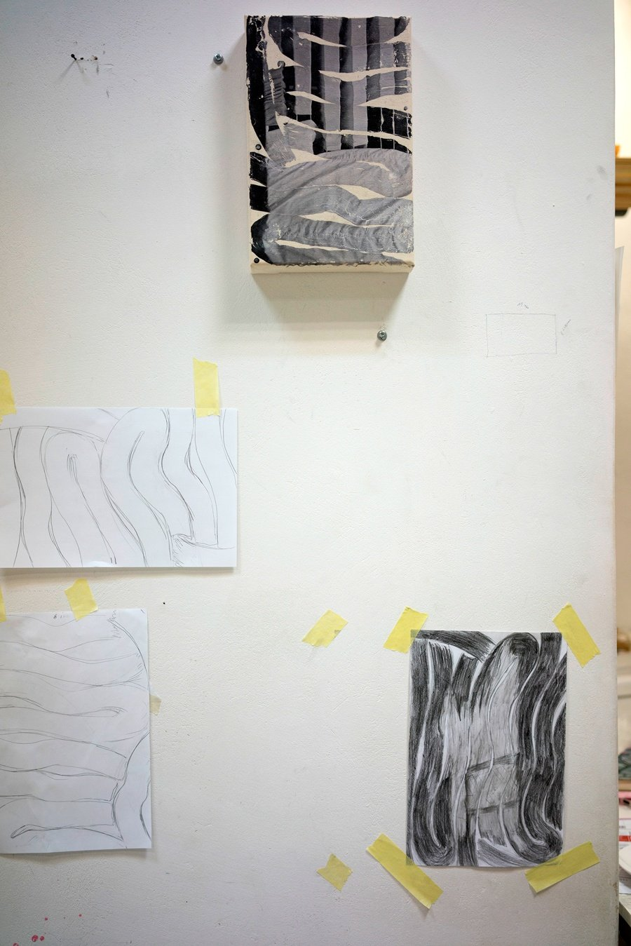 The studio of Tatjana Danneberg in Warsaw, September 2020. Courtesy of the artist.
