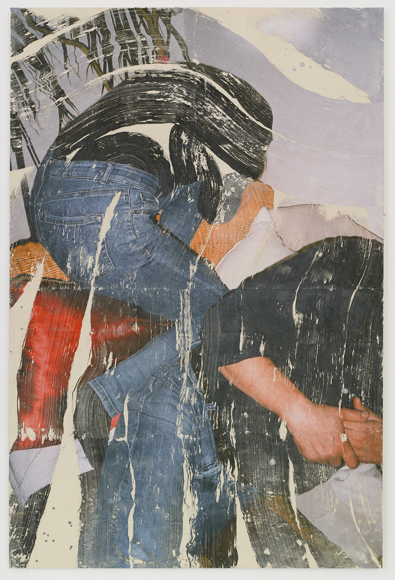 Tatjana Danneberg, Nuda, 2020. Ink-jet print, gesso, glue on canvas. Courtesy the artist and LambdaLambdaLambda.