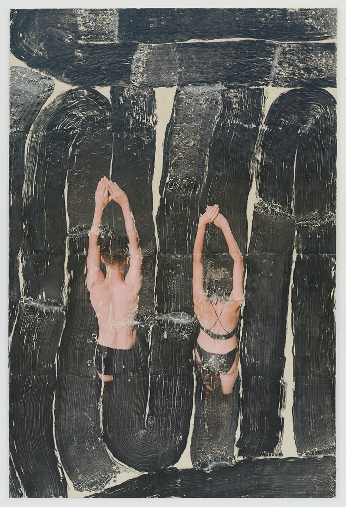 Tatjana Danneberg, When you're looking for nothing and find nothing, 2019 Ink-jet print, gesso, glue on canvas. Courtesy the artist and LambdaLambdaLambda.