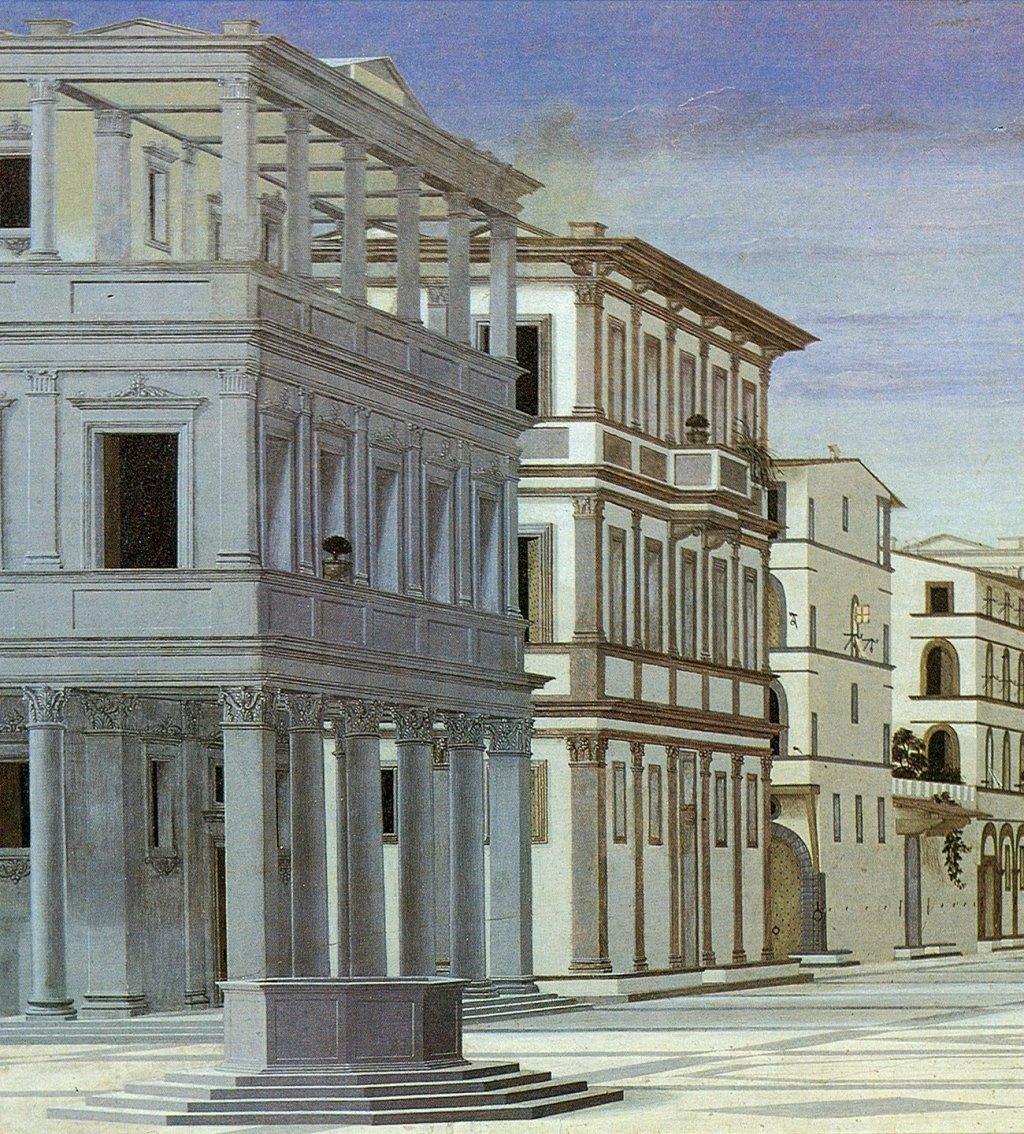 la città ideale Urbino dettaglio