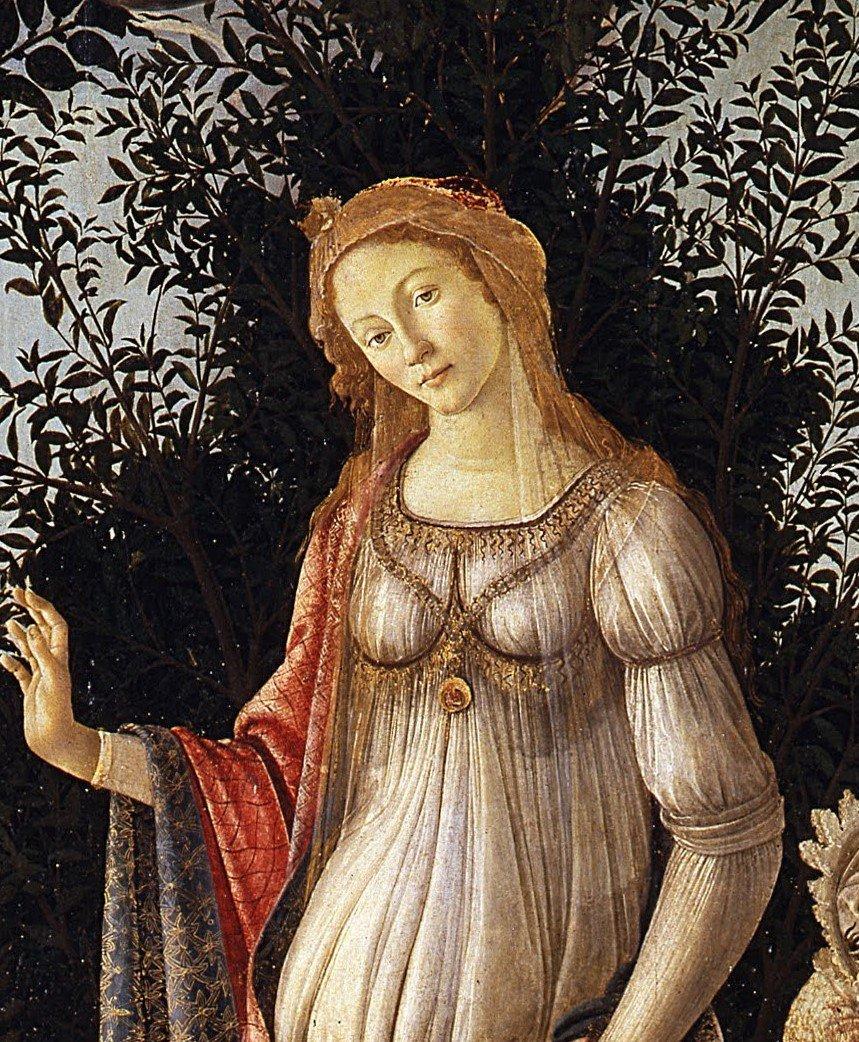 Botticelli-primavera particolare