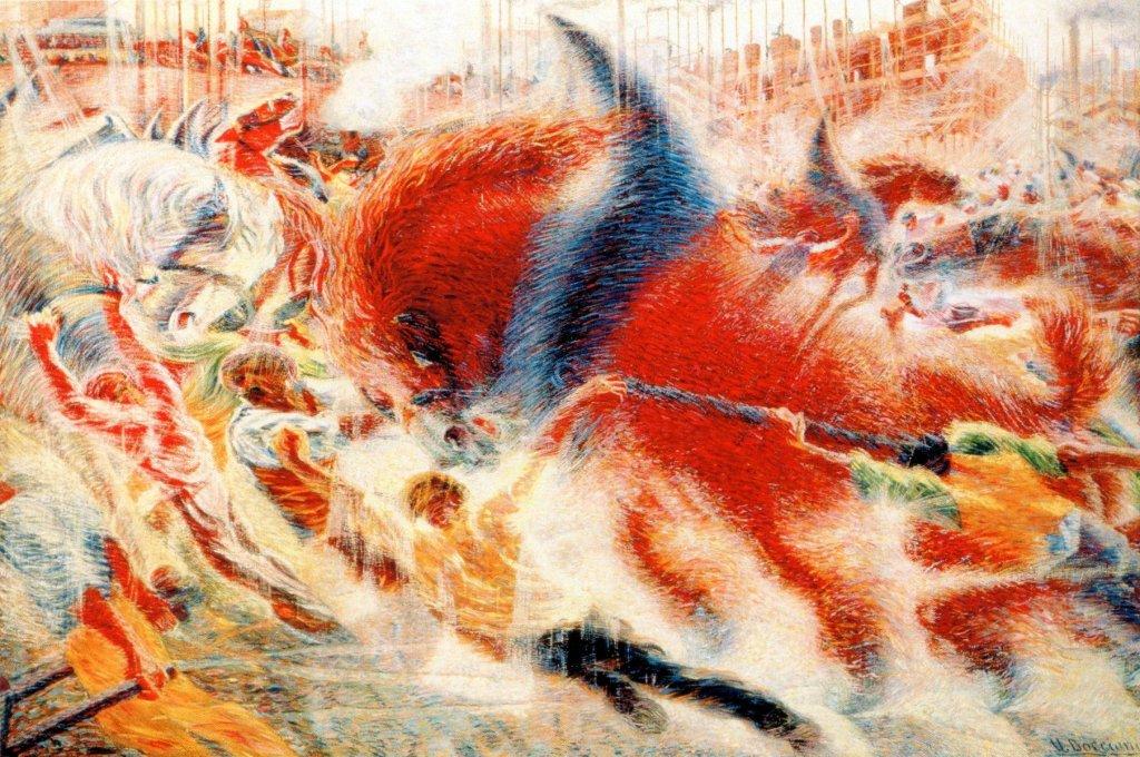 Umberto Boccioni La città che sale 1910 MoMa NY
